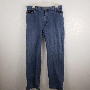 Eddie bauer 12 flannel fleece lined jeans straight
